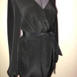 ASOS Black Wrap Dress Size 14